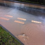25/11/2012 A drain on Halam Road (bottom of Allenby Road) unblocked by concerned residents by Ben Huson
