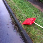25/11/2012 Example of a blocked side gulley on Halam Road by Ben Huson