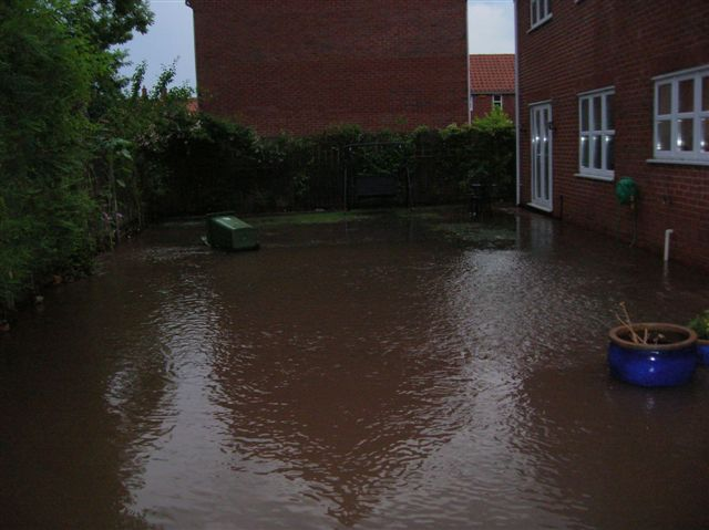 Water from Halam Road down to Hopkiln Lane at the back of the house