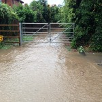19.40 water exiting pathway to Kirklington Road