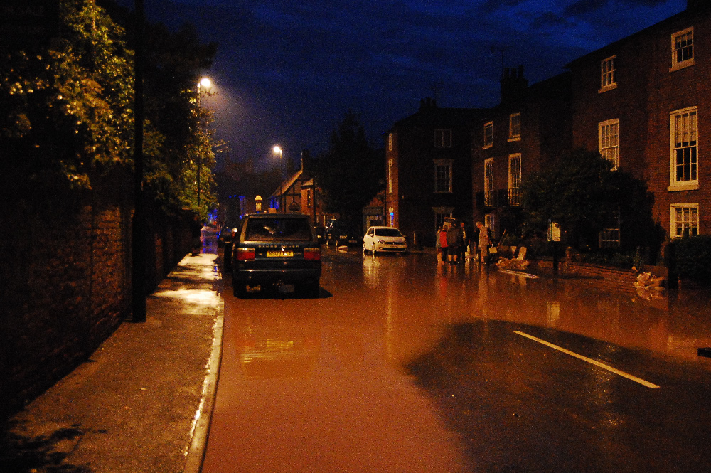 23/07/2013 @ 21:23 Water going down Church Street by Stewart Todd