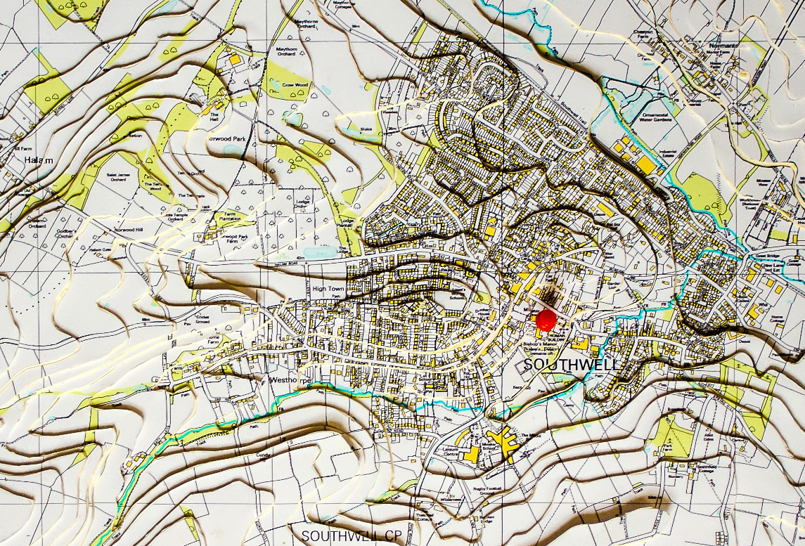 D Topographic Map Of Southwell Southwell Flood Forum - Contour maps online uk
