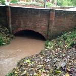 28/10/2013 @ 08:55 - Potwell Dyke Flowing into Church Street Bridge Culvert