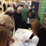 Liz Young, Project Leader URS explaining the Southwell Flood Model