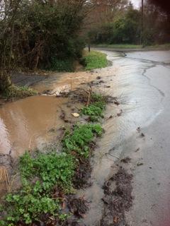 Park Lane ditch overflow